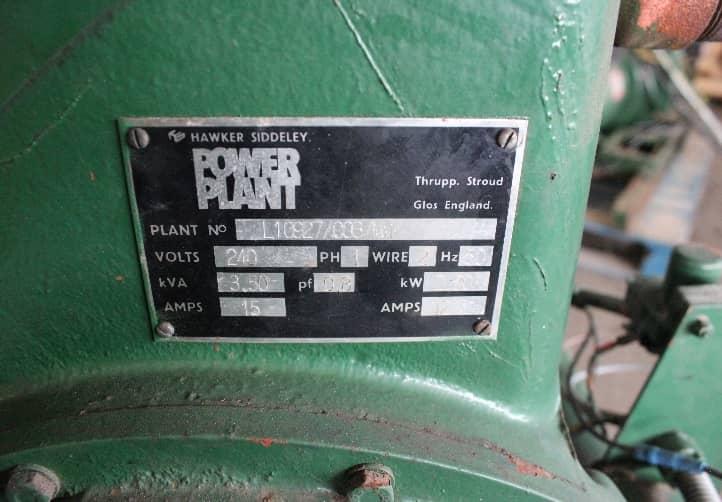 LISTER Generator 3.5KVA - Used generator for sale malaysia TNG Power